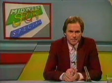 Nick Owen presenting Midweek Sports Special, ITV November 1986