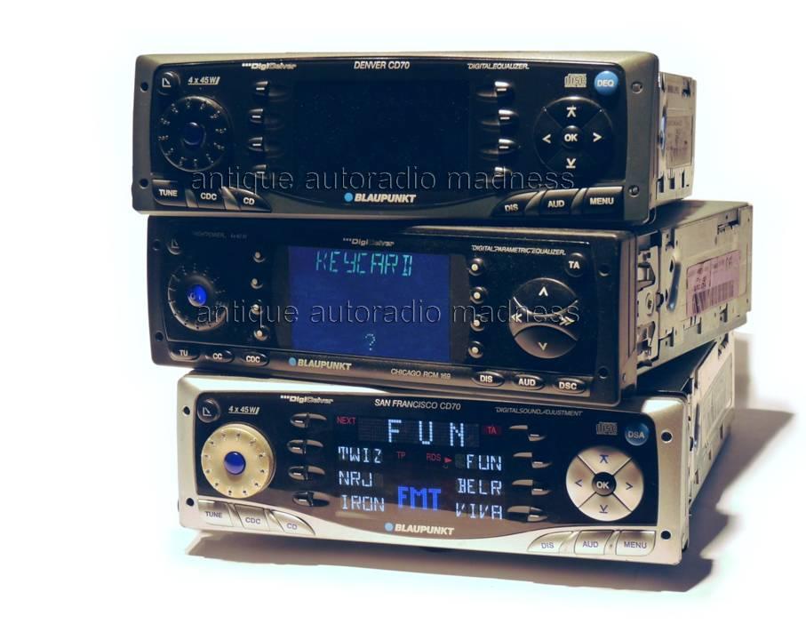 Vintage BLAUPUNKT car stereo models: Denver CD70 - Chicago RCM 169 -  San Francisco CD70