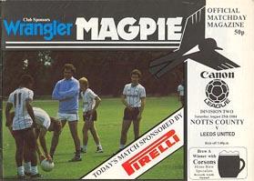Notts County v Leeds United 1984/85