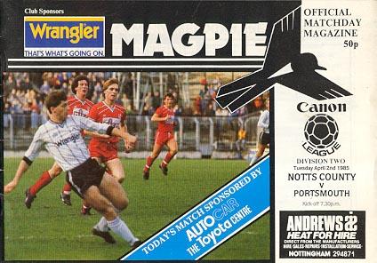 Notts County v Portsmouth 1984/85