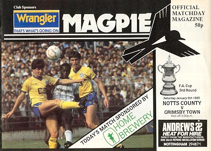 Notts County v Grimsby Town [FA Cup] 1984/85