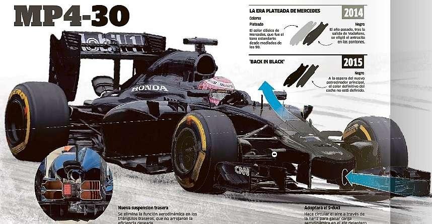McLaren MP4-30,Fernando Alonso el hombre de negro McLaren%20MP4-30