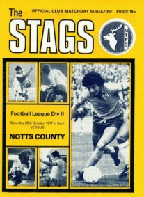 Mansfield away 1977/78