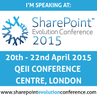 I'm Speaking at SharePoint Evolution Conference 2015