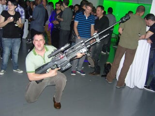 Tim Acheson posing with Sniper Rifle (Gamertag: cbjoe)