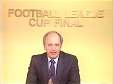 Brian Moore presenting 1982 League Cup final highlights