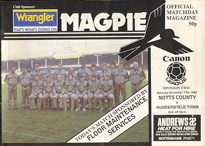 Notts County v Huddersfield Town 1984/85