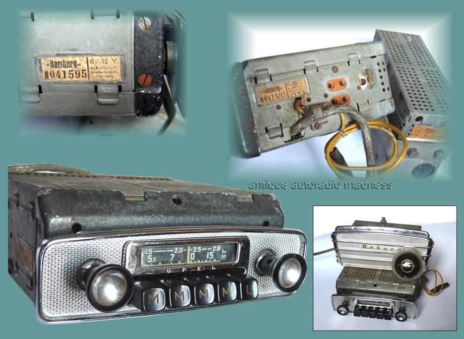 Vintage BLAUPUNKT car radio year 1956 - model Hamburg (serie K) - Original OPEL car radio
