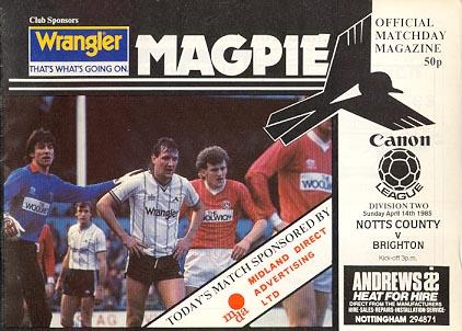 Notts County v Brighton & H.A. 1984/85