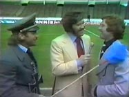 Freddie Starr, Dickie Davies and Alan Ball, 1975 Cup final day
