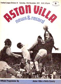 Aston Villa 1971/72