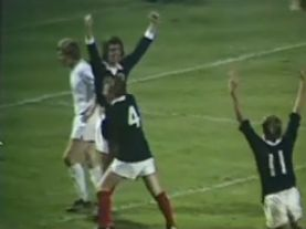 1973 Joe Jordan scores for Scotland v Czechoslovakia