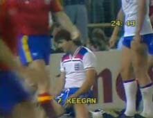 Kevin Keegan misses against Spain, 1982